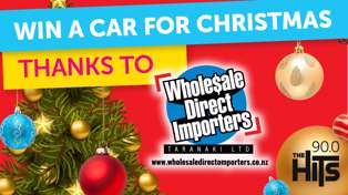 WIN a Car for Christmas with The Hits and Wholesale Direct Importers!