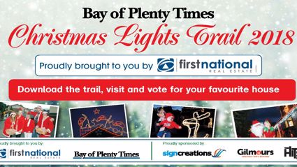 WIN: Gilmours Tauranga Vouchers in the Bay of Plenty Times Christmas Light Trail thanks to First National Real Estate