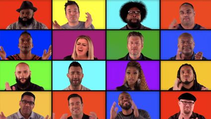 The Voice judges perform stunning a cappella mashup of their biggest hits with Jimmy Fallon