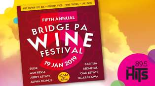 WIN tickets to the Bridge Pa Wine Festival for you and 3 mates!