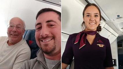 Devoted dad goes viral after booking himself onto EVERY flight his daughter was working on over Christmas Day