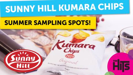The Hits street team are out and about with Sunny Hill Kumara Chips this summer! Find out where