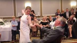 This bride's emotional dance with her terminally ill father in wheelchair will give you all the feels!