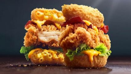 KFC has just made an EPIC Mac 'N Cheese Zinger burger!
