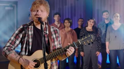 Ed Sheeran puts his spin on Elvis' 'Can't Help Falling In Love' and it is STUNNING!
