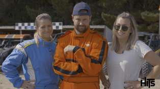 Watch Toni Street and Laura McGoldrick scream when Sam Wallace gets his buggy revenge
