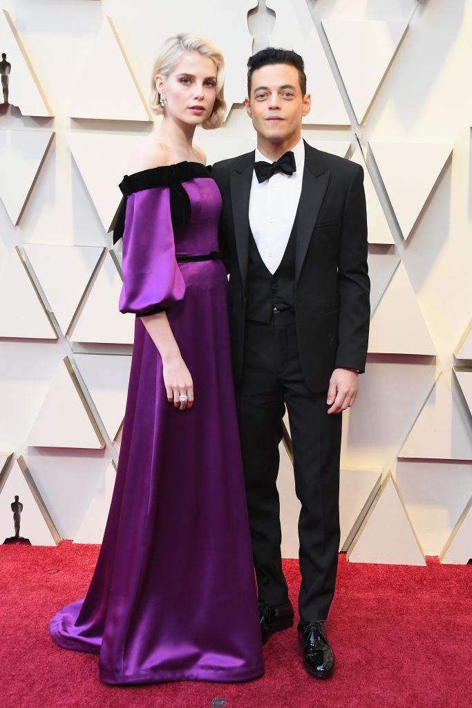 Lucy Boynton and Rami Malek. Photo / Getty