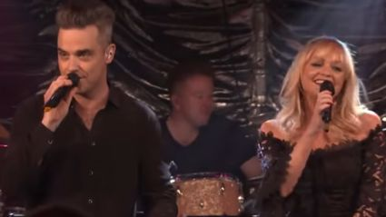 Robbie Williams joins Emma Bunton for duet of '2 Become 1' and it is giving us all the '90s feels!