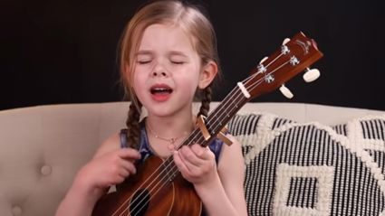 Six-year-old girl wows with breathtaking cover of Elvis's hit 'Can't Help Falling In Love'!
