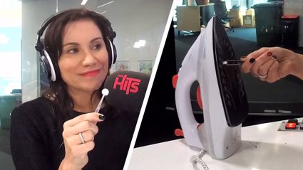 Stacey Morrison puts the paracetamol life hack for cleaning burnt irons to the test