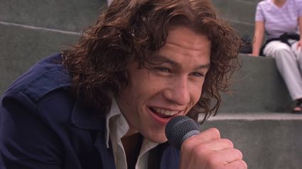 The REAL story behind Heath Ledger's iconic '10 Things I Hate About You' singing scene will make you swoon
