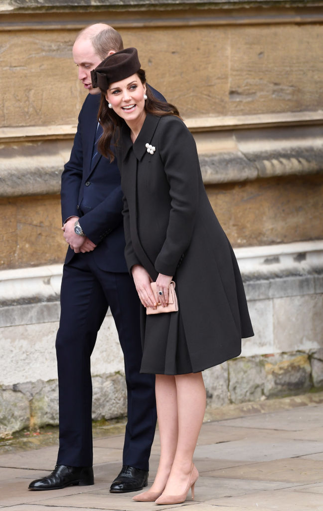 Kate Middleton wearing her black coat in April 2018. Photo / Getty