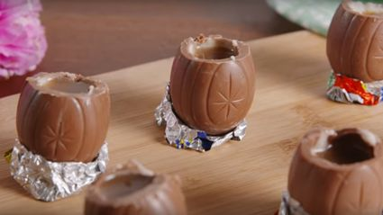 Here's how to make your very own Cadbury Creme Egg shots!