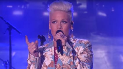 Pink performs 'Walk Me Home' live on The Ellen Show for the first time - and it is AMAZING!