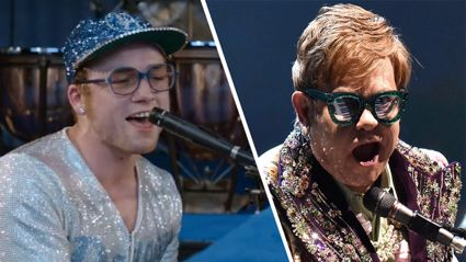 Video of Taron Egerton performing 'Rocket Man' has been unveiled and he sounds JUST like Elton John!