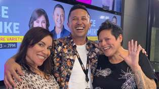 Stace, Mike and Anika Moa try out the new 'gender-swap' filter and the results are hilarious!