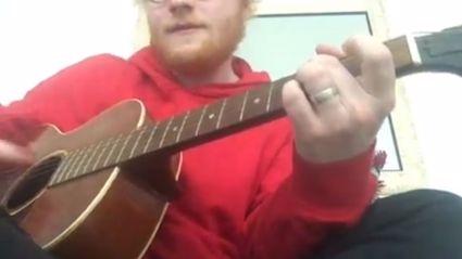 Watch Ed Sheeran play an acoustic version of his brand new song - it's even better than the original!