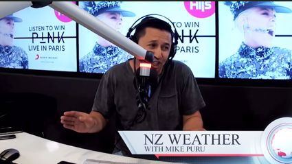 Mike Puru gives a food-filled weather forecast for New Zealand and it is hilariously accurate!