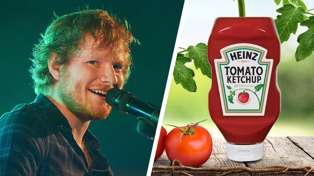 It's official! Ed Sheeran has his very own flavour of Heinz Tomato Ketchup ...
