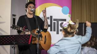 Pledge for Plunket: Watch the adorable moment Anika Moa sings for bubs and tots