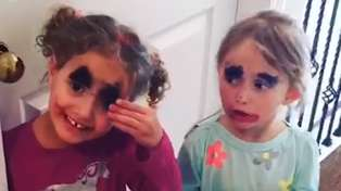 Watch the hilariously adorable moment mums catch their kids playing with their makeup