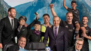 Watch Air NZ's brand new safety video starring Suits actor and All Blacks