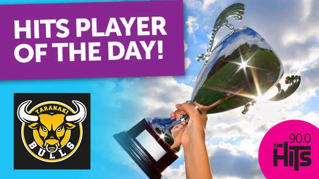 The Hits Player of the Day with the Yarrows Taranaki Bulls!
