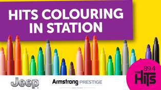 DUNEDIN: The Hits colouring in Station!