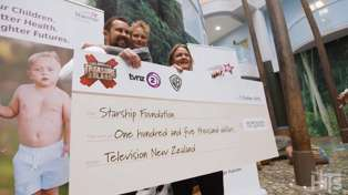 Heartwarming moment Sam Wallace delivers $105,000 'Celebrity Treasure Island' prize money to Starship