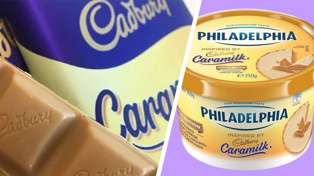 It turns out there is now Caramilk Philadelphia cream cheese and it has us so excited