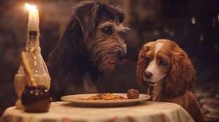 Lady and the Tramp share adorable meatball moment in full trailer for new live action movie
