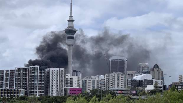 Giant Fire Breaks Out At Skycity Convention Centre In Auckland