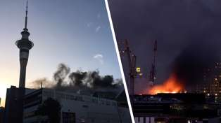 SkyCity Convention Centre fire: Inferno rages, roof fears, TVNZ evacuated, Aucklanders advised to avoid central city