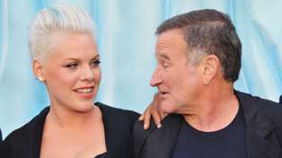 Pink and Robin Williams pictured together in 2011. Photo / Getty