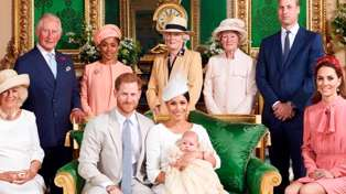 Prince Harry and Meghan Markle share never-before-seen photo from Archie's Christening