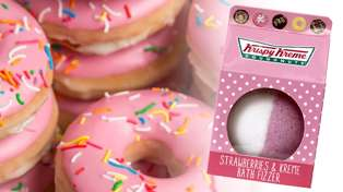 Krispy Kreme donut bath bombs now exist and we so want to try one