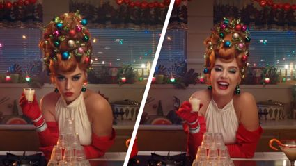 Katy Perry debuts festive ginger locks in brand new Christmas song music video