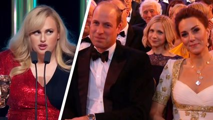Rebel Wilson stole BAFTAs with hilarious speech that left Prince William and Kate Middleton squirming