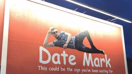 Single man goes viral for putting himself on a billboard in hopes of finding a girlfriend