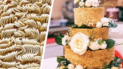It turns out instant noodle wedding cakes are they latest trend with newlyweds