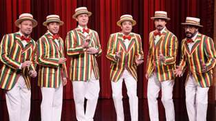 Watch Backstreet Boys and Jimmy Fallon hilariously sing 'Thong Song' as a barbershop quartet