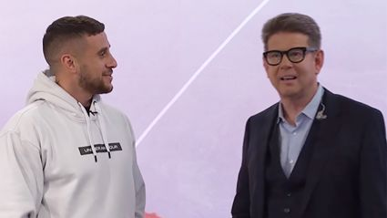 Watch the adorable moment John Campbell freaks out over surprise visit from All Black TJ Perenara