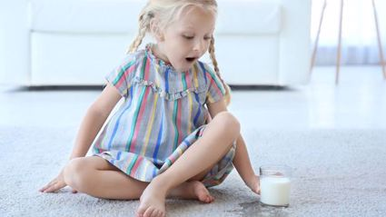 Mum's genius hack to stop her kids from spilling milk goes viral