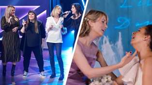 Kelly Clarkson has a total 'Bridesmaids' moment singing 'Hold On' live with Wilson Phillips