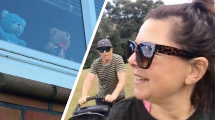 Bear or beer? Estelle took her family on the NZ teddy bear hunt and the results are hilarious