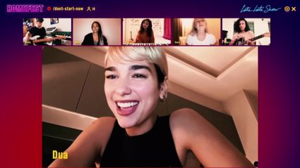 Dua Lipa performs 'Don't Start Now' live from her living room during James Corden special