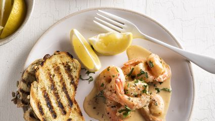 Try out this delicious Creamy Garlic Prawns recipe from New World