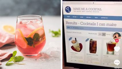 This website will show you every cocktail you can make with only the things in your house