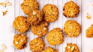 Try out this tasty recipe for almond and orange Anzac biscuits