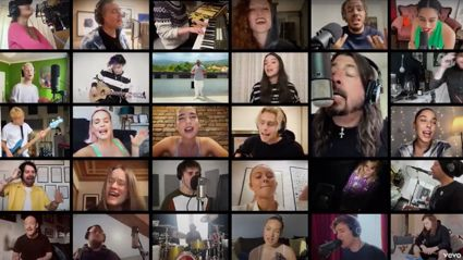 World's biggest stars perform moving cover of 'Times Like These' by the Foo Fighters